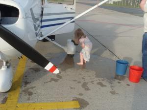 Flugzeugwäsche