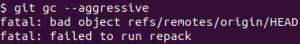 Git fatal: bad object refs/remotes/origin/HEAD